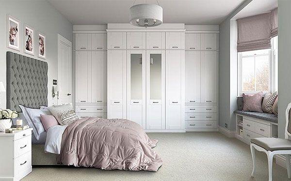 Hammonds Seton fitted wardrobe in white