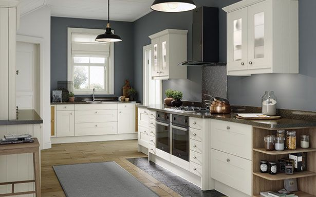 Wren Kitchens Edwardian Cream Matt kitchen