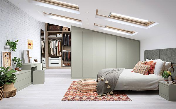John Lewis Chiltern fitted wardrobe in French grey