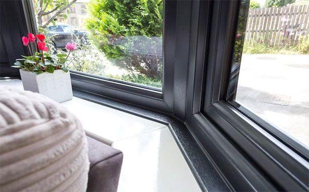 Safestyle uPVC casement windows in black