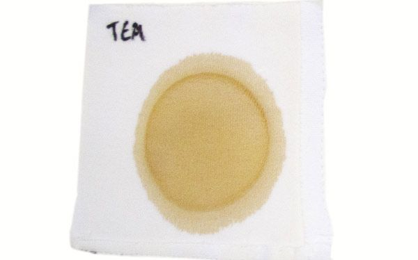 Tea stain for a laundry detergent test