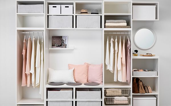 Ikea open wardrobe storage