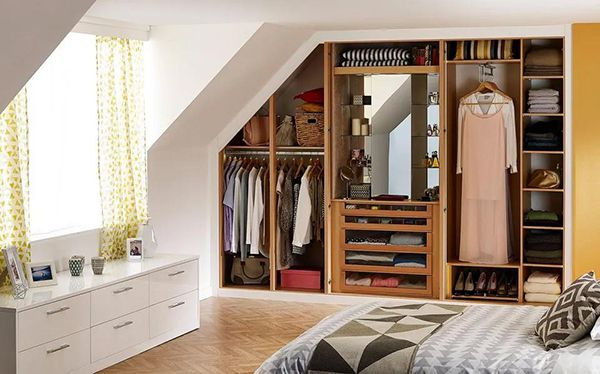 Sharps fitted wardrobe with internal dressing area