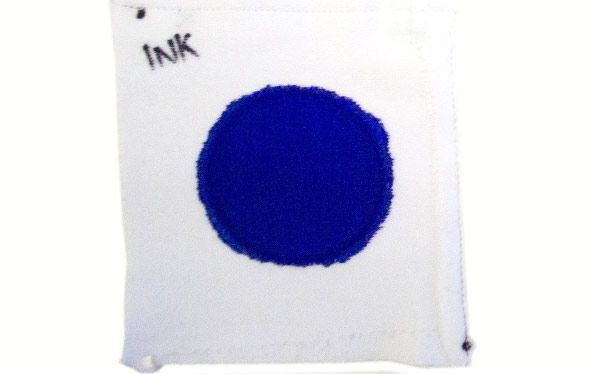 Ink stain for a laundry detergent test