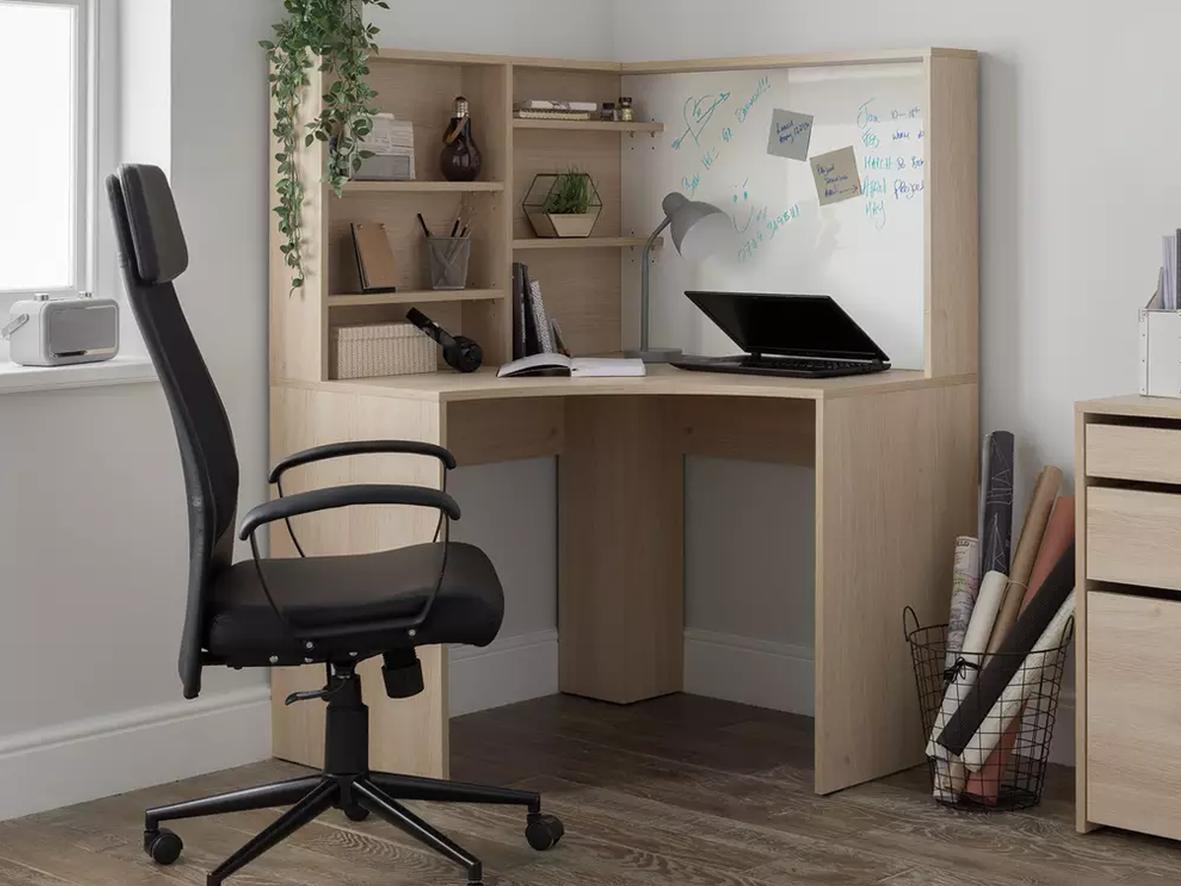 Corner desk (Above: Home Pepper Corner Desk, Argos, £160)