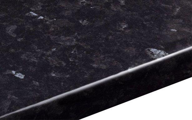 B&Q Ebony Granite Gloss Round Edge worktop