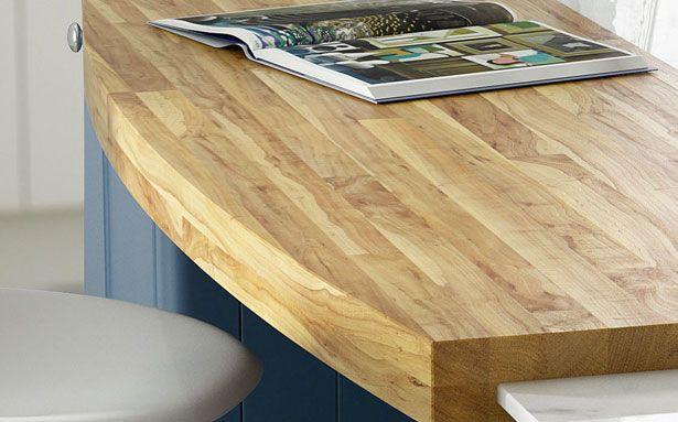 Wren Kitchens Oak Timber worktop