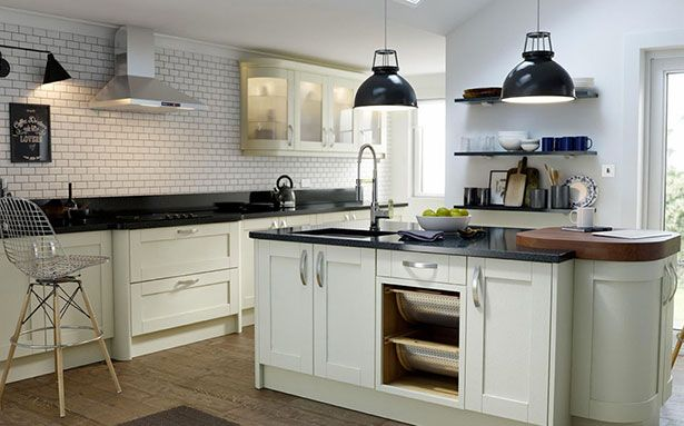 Kitchen layouts Wren living island shape