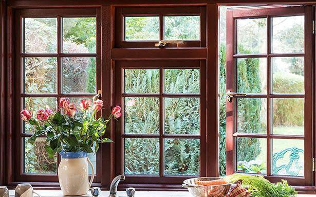 Wooden double glazed windows
