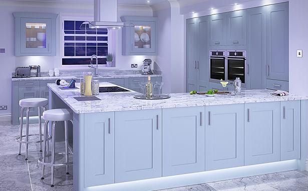 DIY Kitchens Stanbury Cornflower Blue kitchen