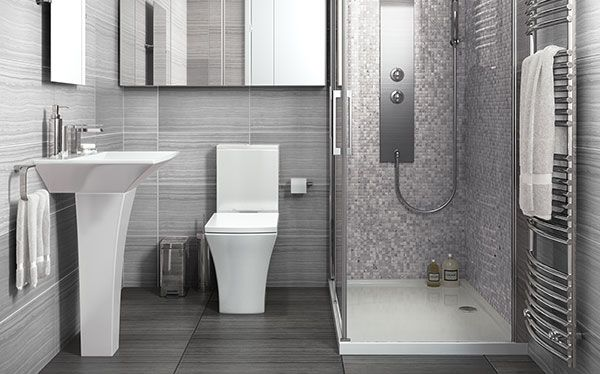 B&Q Carapelle bathroom by Cooke & Lewis