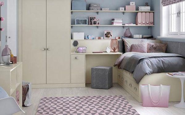 Hammonds fitted wardrobe, desk, shelves and underbed storage