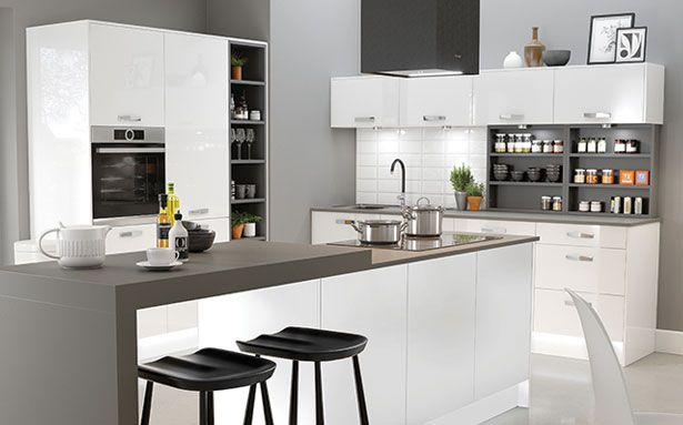 Wren Kitchens Autograph White Gloss kitchen