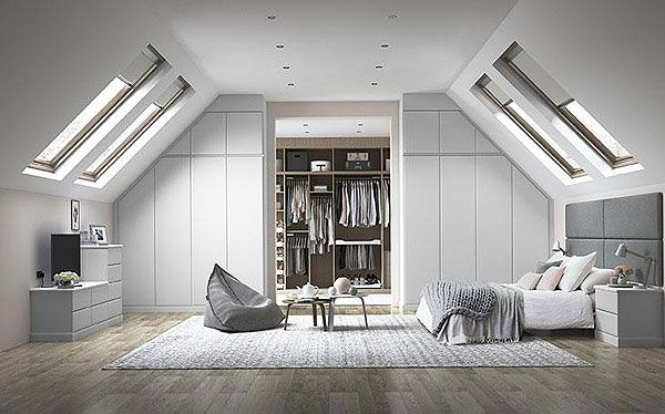Hammonds Avon fitted wardrobe in light grey