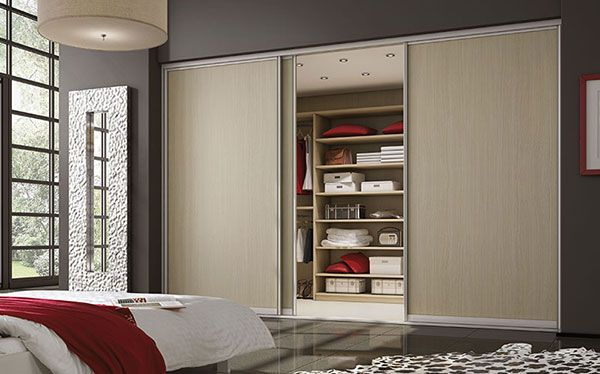 Sliderobes sliding wardrobe in light ash