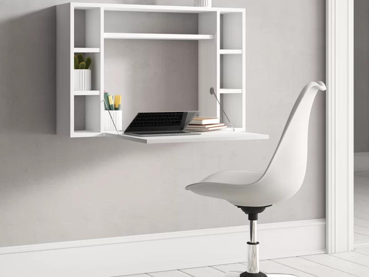Wall mounted desk (Above: Scheinman Floating Desk, Wayfair, £127.99)
