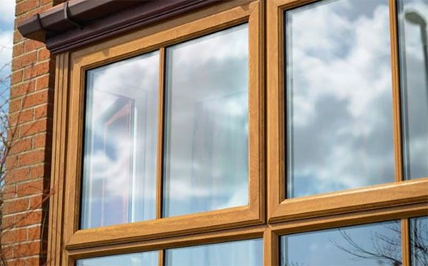 Safestyle uPVC casement windows in wood effect