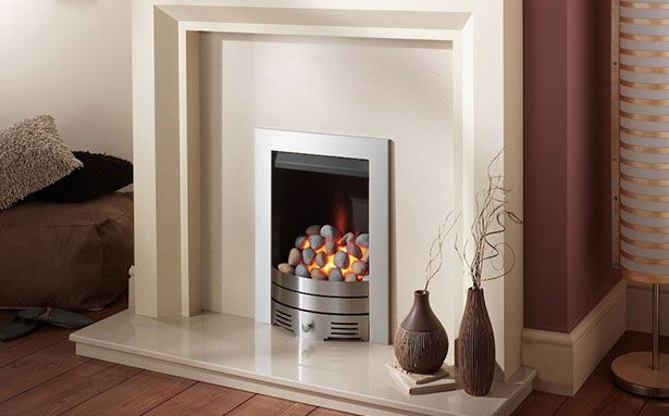 GALLERY GAS OPEN FRONT PEBBLE Crystal Fires open front