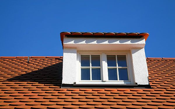 Dormer window gallery - red clay tiled roof