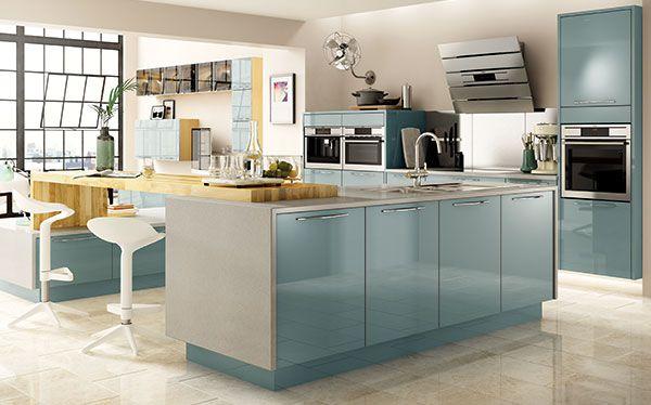Wickes Esker Azure kitchen