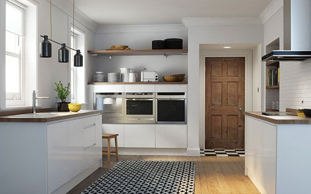 Wren Kitchens Handleless White Gloss kitchen