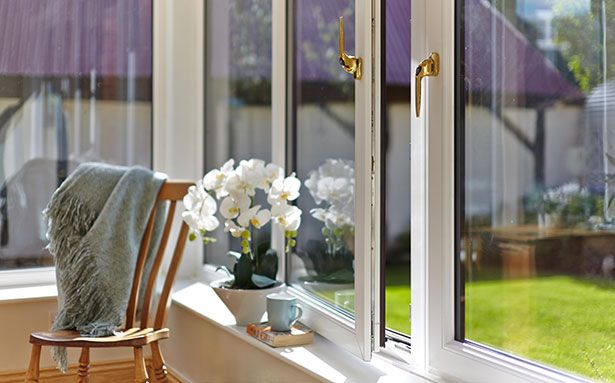 Anglian tilt and turn double glazed windows