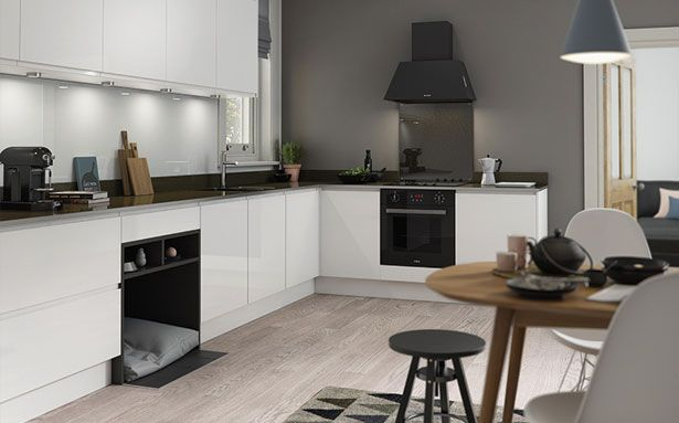 Wren Kitchens J Pull White Gloss kitchen