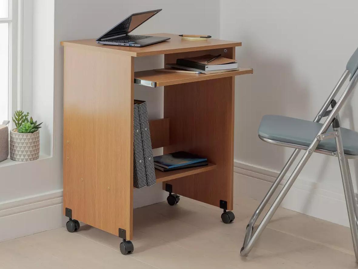 Desk on wheels (Above: Functional PC Office Trolley, Argos, £30)