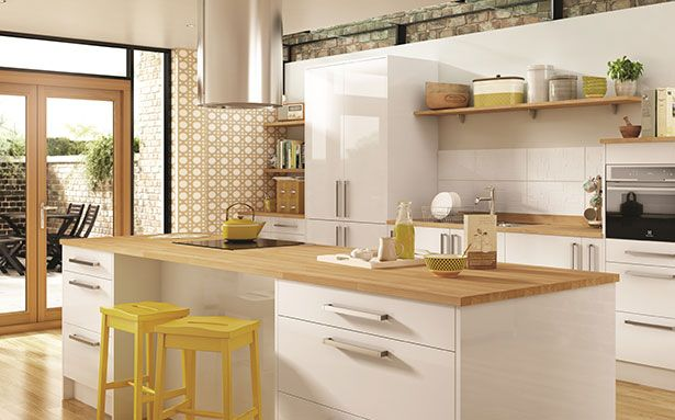 Wickes Glencoe White Gloss kitchen