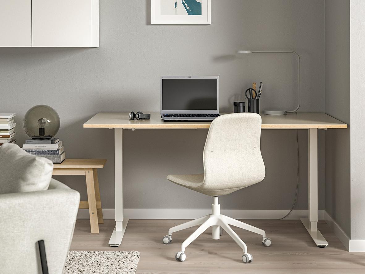 Sit/stand desk (Above: SKARSTA, Ikea, £215)