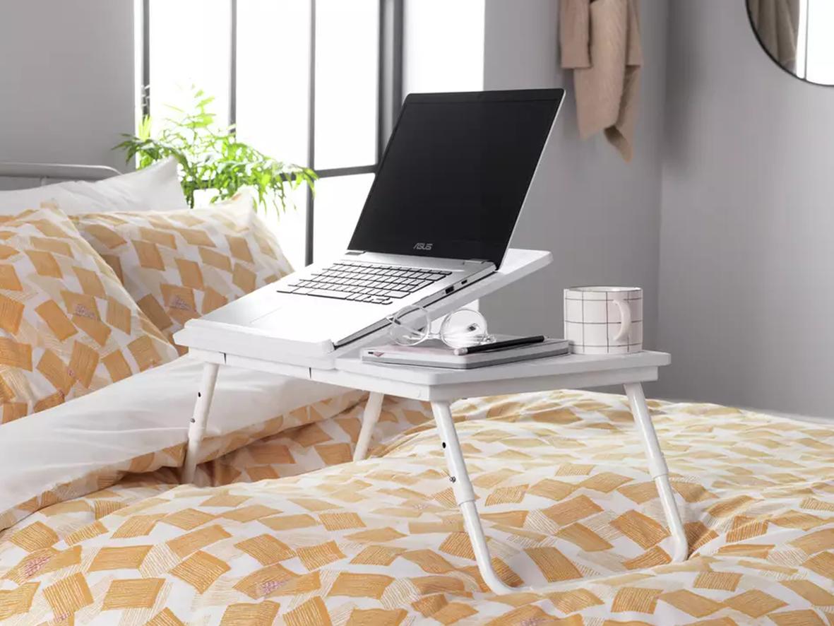 Bed / sofa tray desk (Above: Portable Laptop Tray, Argos, £20)