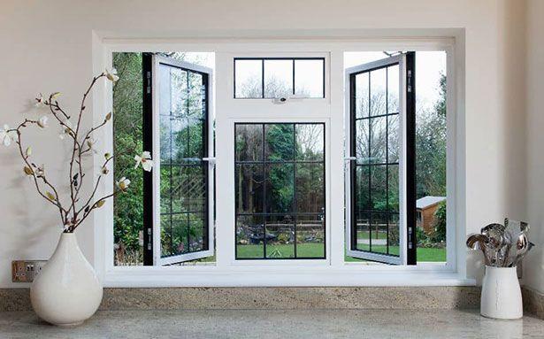 White aluminium double glazed windows