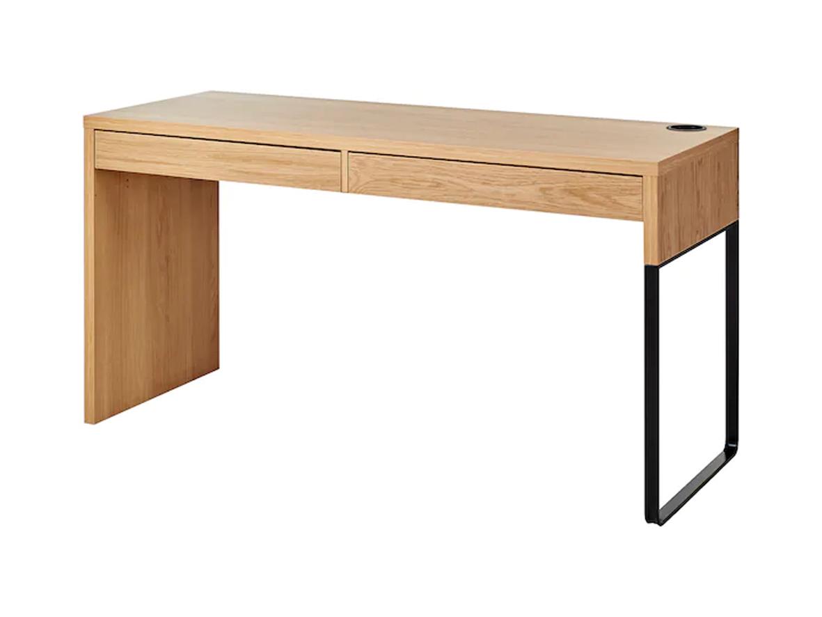 MICKE oak effect desk, Ikea (£70)