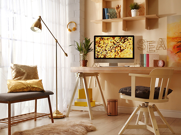 Warm tones can help you create a cozy space