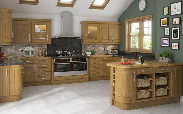 DIY Kitchens Malton Oak kitchen