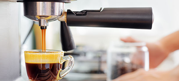 Ground coffee machine