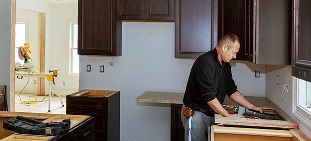 Installing a kitchen