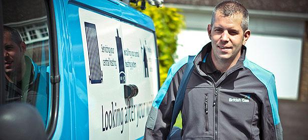 British gas van and engineer