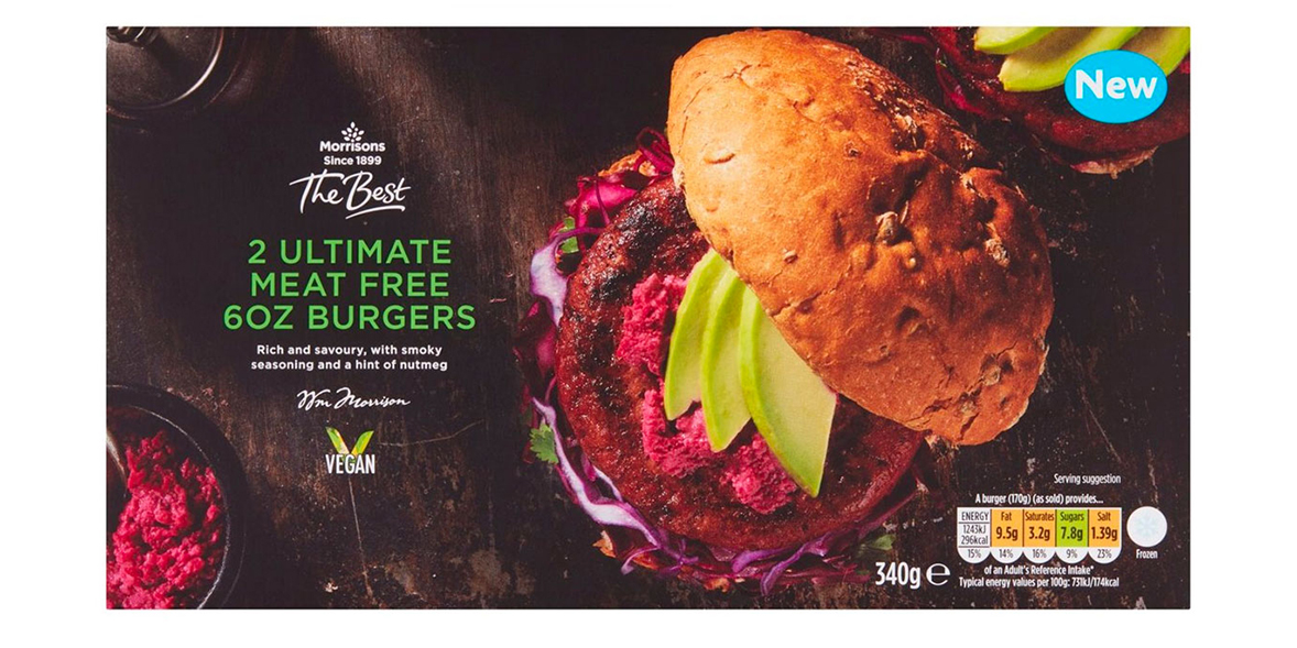 Morrisons Ultimate Meat Free Burgers