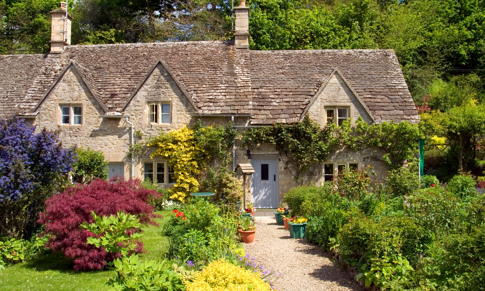 cottage with beautiful garden