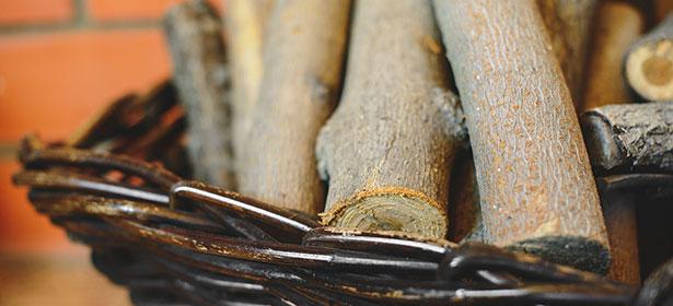 Basket of logs