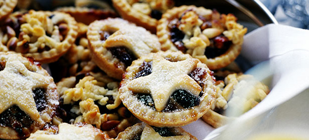 mince pies with star shaped top