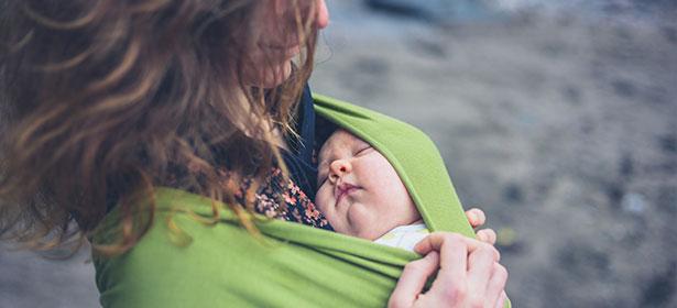 Baby Sling Green