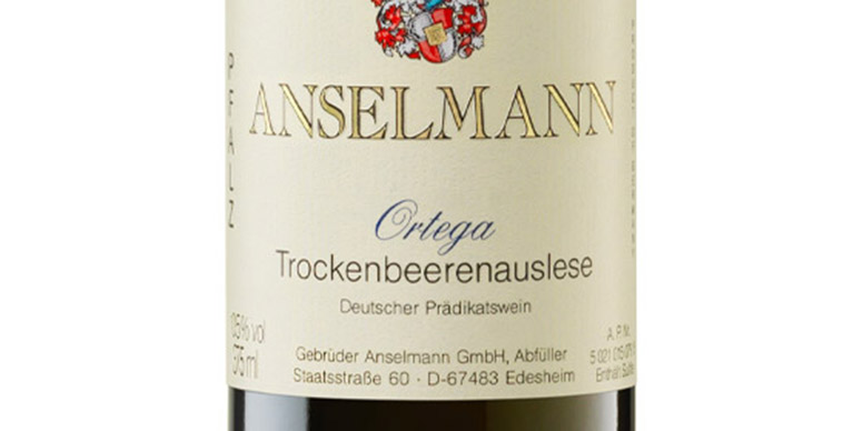 Trockenbeerenauslese wine label