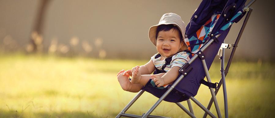 Child in pushchair