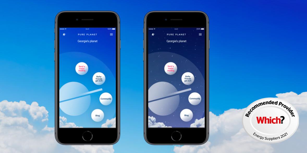 Pure Planet mobile app