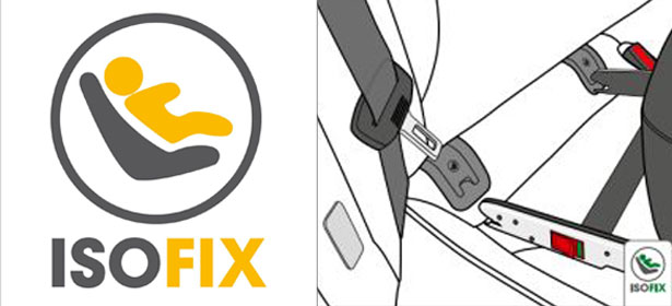 Isofix logo and installation graphic