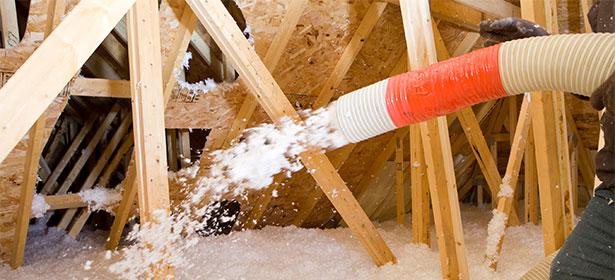 Blown fibre insulation2 450365