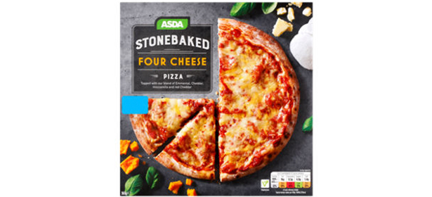 Asda Stonebaked Four Cheese Pizza