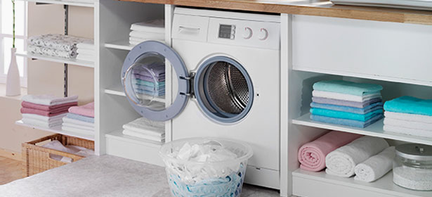 Washer-dryer in laundry room